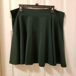 Dresses & Skirts - Plus size dark green skater skirt